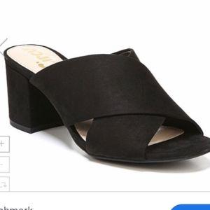Circus Sam edelman stevie black suede chunky heel